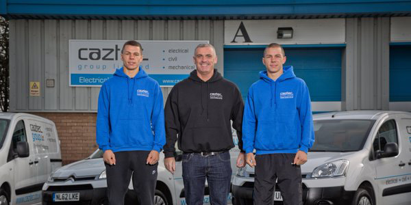 caztec electrical contractors team photo